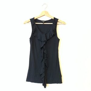 MOSSIMO SUPPLY CO Black Tank with Ruffle XS